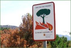 Prohibit d'encendre foc
