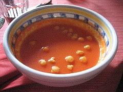 Sopa de sandía y tomate