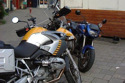 BMW GS en Voxan Roadster