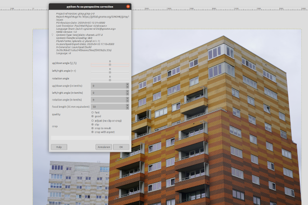 GIMP 2.10.18 - EZ Perspective